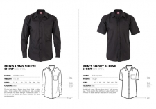 mens-poly-cotton-long-short-sleeve-shirt-black OSHRTL & OSHRTS