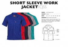 Short Sleeve Work Jacket CJSS