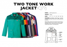 Two Tone Work Jacket CJ77J