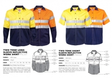 two-tone-reflective-short-long-sleeve-work-shirts MSL33T & MSS33H