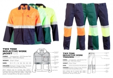 two-tone-reflective-work-jacket-trousers CJ33J & CP33P