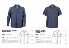 denim-short-long-sleeve-work-shirts LKSHTS & LKSHTL