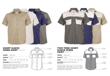 plain-and-two-tone-short-sleeve-work-shirts MSS702 & MSS33