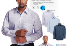 Barron Clothing LO-CON-SS LO-CON-LS Mens Continental Shirt Short & Long Sleeve