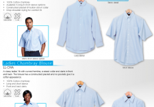 Barron  LL-CHA - LO-CHA Mens & Ladies Long & Short sleeve Chambray Lounge Shirts