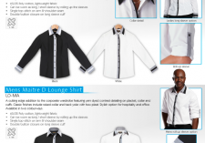 Barron LL-MA - LO-MA Mens & Ladies Long sleeve Maitre Lounge Shirts