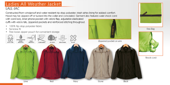 Barroness L-ALL-JAC Ladies All Weather Jacket